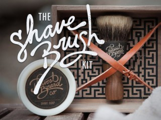 SHAVING BRUSH KIT: Premium Badger Shave Brush